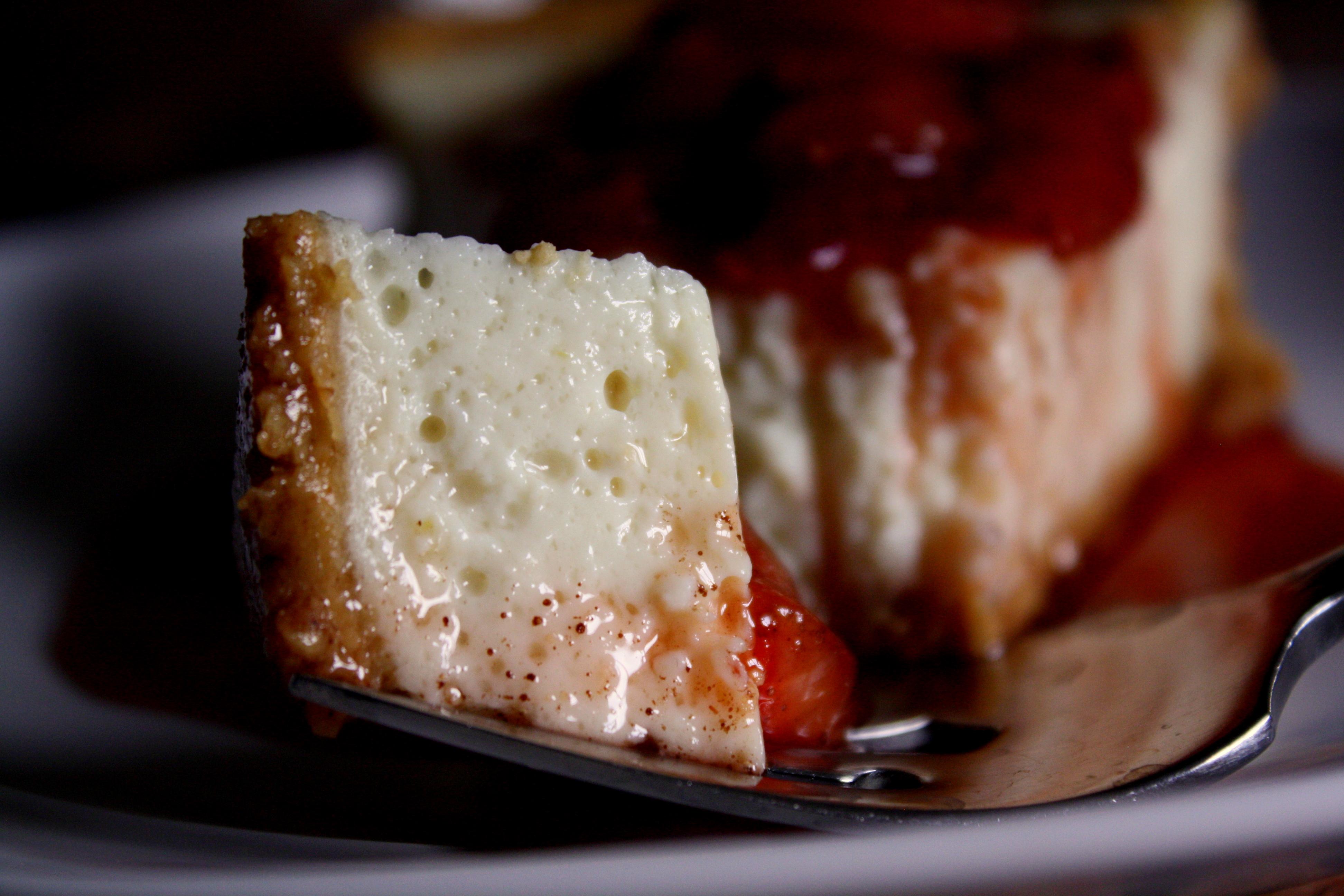 Lemon Tofu Cheesecake & Balsamic Strawberry Compote | Braised Anatomy